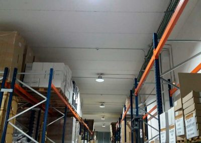 Instalación led de iluminación industrial con ahorro energético