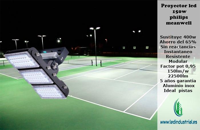 led industrial centros deportivos tenis
