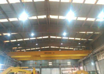 Cambio iluminación led industrial en Komatsu