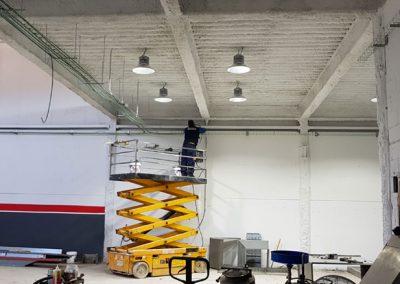 Talleres Maber, Instalación de iluminación en nave nueva