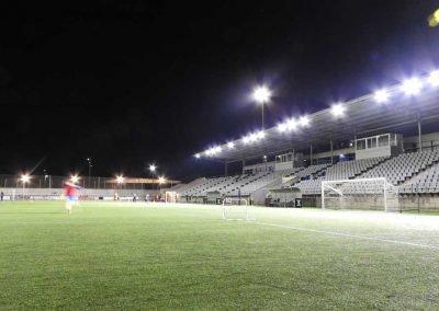 Instalación Iluminacion LED campo de futbol Vilanova i la Geltru
