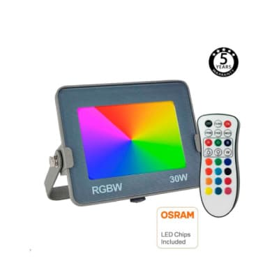 LED Industrial - Foco Proyector LED RGB+W - Multicolor