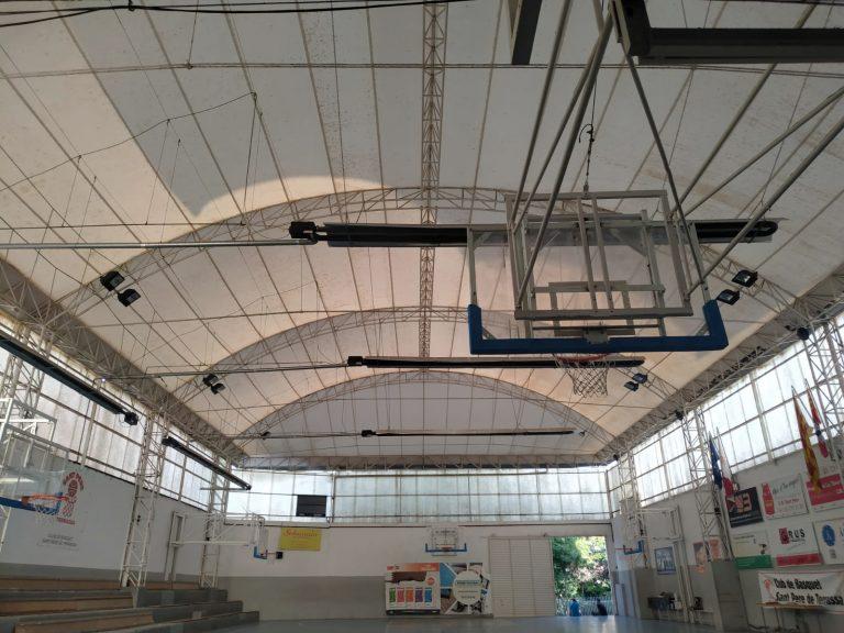 Iluminacion LED deportiva Pista Basket terrasa instalación