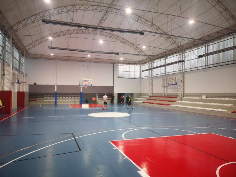 Iluminacion LED deportiva Pista Basket terrasa resultado