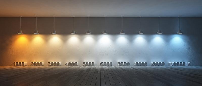 Iluminación comercial y temperatura del color